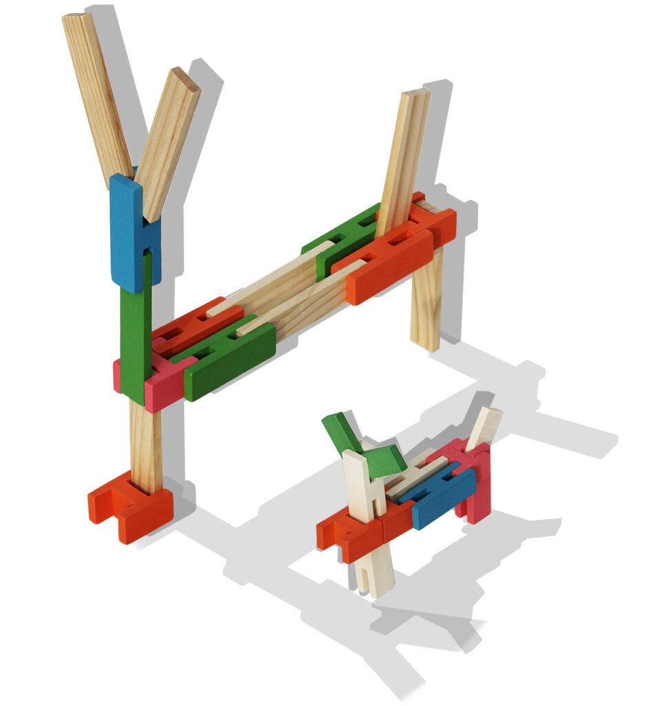 houten bloken kapla gecombineerd met Luco